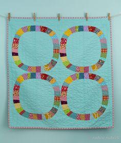 Blue is Bleu:  darling 'Single Girl' pattern baby quilt