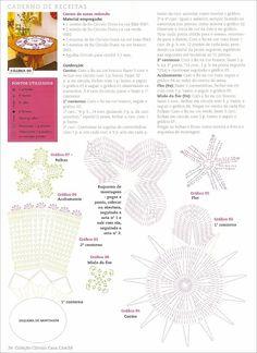 Centro de mesa redondo e florido - CROCHE COM RECEITAS