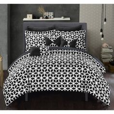 Shop for Chic Home Ritchelle Black 10-Piece Bed in a Bag Comforter with Sheet Set. Get free shipping at Overstock.com - Your Online Fashion Bedding Outlet Store! Get 5% in rewards with Club O!