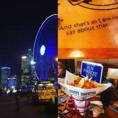 Having Bubba Gump Shrimps for a dinner.  #dinner #päivällinen #ruoka #ravintola #restaurant #bubbagumpshrimpco  #hongkong #victoriapeak #matkalla #travel #travelling