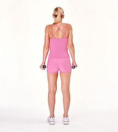 Upper back - 5 lb weights in each hand, shrug shoulders, hold to 3 - 10 reps