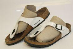 df264cf0c88 Birkenstock Gizeh Kids 3 34 White Birko-Flor T-Strap Sandal Made in GERMANY
