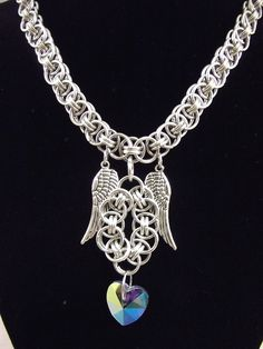 Chainmaille Helm Choker Necklace: Fly My Heart Away by vulpine Artifier. deviantart.com
