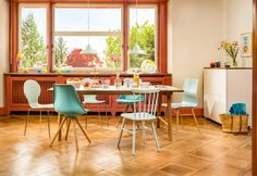 Micasa Esszimmer mit Esstisch VALLE und Stühle JACOBI, CITTI und TOTTI (in verschiedenen Farben erhältlich)