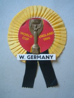 1966 World Cup Rosette. West Germany.