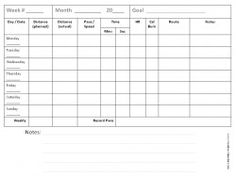Weekly Training Plan template runwithjess.com: Printables | On the ...