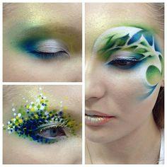 Basic Eye Makeup, Edgy Makeup, Unique Makeup, Creative Makeup, Colorful Makeup, Face Makeup, Circus Makeup, Carnival Makeup, Fantasy Make Up