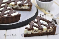 Crostata al cacao con crema di ricotta e cioccolato #lacucinadirosalba #crostata #dolci