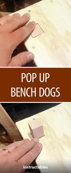 Pop Up Bench Dogs  #woodworking #workshop