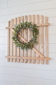 "Such an easy and budget friendly DIY! Make this super cute ""old"" farmhouse gate!"