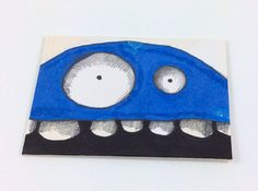 Blue Monster ACEO by Aaron Butcher on Etsy, $5.00