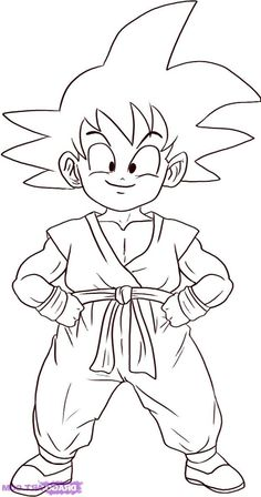 Imagen de Goku niño para colorear