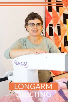 Longarm Handi Quilter Amara w mojej pracowni. Sewing and quilting. Longarm quilting service. Handi Quilter, Longarm Quilting, Quilts, Studio, Sewing, Scrappy Quilts, Dressmaking, Couture, Quilt Sets