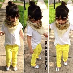 This is my little diva!! Love the yellow skinnies! T has some mustard for this fall and I can't wait!