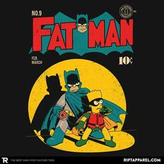 Not the hero we need, but the one we deserve.  Fat Man'' by @akiwa_art  Click the link in our bio to PURCHASE NOW!   This design is only available for 24 hours! ⌛  Follow us for #TheBestDailyPopCultureTees! #RIPTapparel