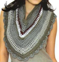 Pretty Triangle Scarf/Cowl: free crochet charts/diagrams