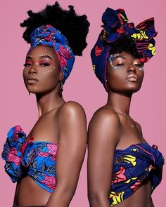 You bad and your friends bad too Headwraps: Eto Shortie Adamma Headwrap Shop:. African Inspired Fashion, African Fashion, African Beauty, African Women, Black Girl Magic, Black Girls, Afrique Art, African Head Wraps, Black Goddess