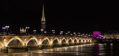 Le Pont de Pierre spanning the Garonne River in Bordeaux, Gironde departement, Aquitaine region, France ✯ ωнιмѕу ѕαη∂у