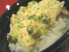 Creamy Crockkpot Chicken and Broccoli over Rice
