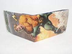 Fathers Day Gift Sale// Comic Book Wallet// Aquaman lost a hand again, $2.34