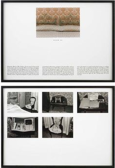 Sophie Calle, The Hotel, Room February Five gelatin silver prints and chromogenic print with text, diptych, framed: 41 x 57 inches x cm) each Museums In Nyc, Art Curriculum, Gelatin Silver Print, Teaching Materials, Art Lesson Plans, Textile Prints, Line Drawing, Art Lessons, Art Photography