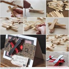 Cute Clothespin And Popsicle Stick Airplane Get Together Favors - http://www.beautifuldecoratingideas.com/home-decorating-ideas/cute-clothespin-and-popsicle-stick-airplane-get-together-favors.html
