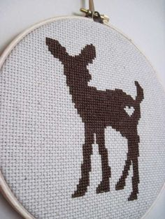 Deer cross stitch.