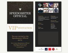 Speedometer VIP invitation