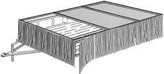 Grass skirt---or white tablecloth could be an easy border. How to make a parade float using a Low-Boy Trailer!