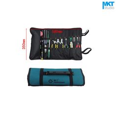1Pcs Drum type Blue 58x35cm Oxford Cloth Durable Waterproof Tools Container Storage Waist Bag With Belt,Electrical Tools Bag
