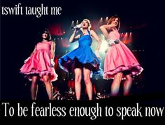 Be fearless enough to speak now.