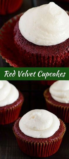 Moist, buttery, and slightly tangy, these red velvet cupcakes are legendary. via @introvertbaker