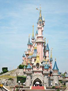 The Sleeping Beauty Castle in Disney Land Paris