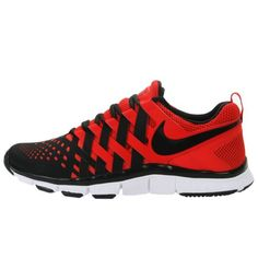 c28689f295661 Nike Mens Free Trainer 5 0 V5 Red Black Woven Running Shoes 579809 601 Size  10