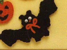 Halloween Bat Magnet Pattern
