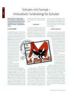 Schulen mit Format - Artikel in Fundraiser Magazin Fundraising, Schools, Fundraisers