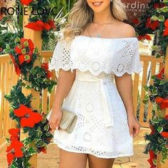 Solid Off Shoulder Hole Mini Dress Casual Chic Dresses Cheap Dresses, Elegant Dresses, Sexy Dresses, Casual Dresses, Casual Bags, Casual Chic, Casual Shoes, Beautiful Dresses, Chic Dress