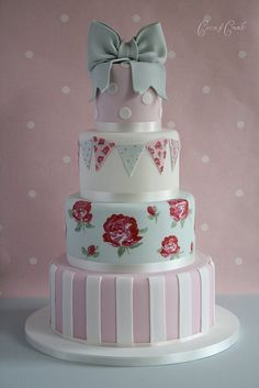 Cath Kidson- (inspired cake) Super cute shabby chic cake made for a princess.