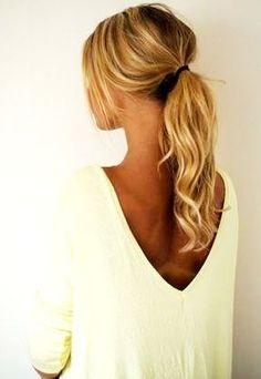 Ideia de rabo de cavalo simples para o verão #summer #hair #trends