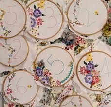 embroidery hoop table numbers - Google Search
