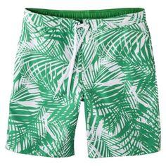 Merona® Men's Board Shorts - Green/White Palm Print