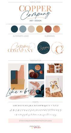 Rose Gold Logo Design Custom Modern Elegant Logo Text Only   Etsy Site Web Design, Graphisches Design, Design Shop, Custom Design, Graphic Design, Design Mehndi, Light Design, Boutique Design, House Design