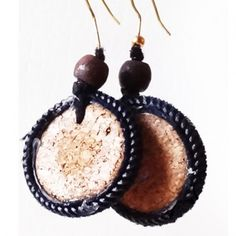 Cork And Zip Earrings - Sejals Handcrafted Jewelry