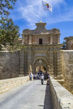 The gate of Mdina, Malta