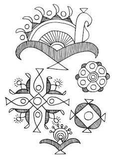 Indian Folk Designs: ~ Folk Designs from West India (2) ~