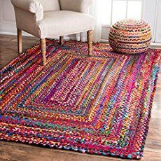Braided RAG RUG, braided carpet rug, meditation mat, mandala rug bohemian decor, colorful area rug home decor rug floor rug area rugs Arts – decoration Rag Rug Tutorial, Braided Rug Tutorial, Braided Rag Rugs, Mandala Rug, Meditation Mat, Boho Dekor, Handmade Home Decor, Handmade Rugs, Accent Rugs