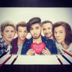 One Direction, drawn with colored pencils. All the best for the future Zayn! One Direction Fan Art, One Direction Cartoons, One Direction Drawings, One Direction Images, One Direction Quotes, Amazing Drawings, Art Drawings Sketches Simple, Cartoon Drawings, Pencil Drawings