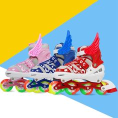 New Kids Inline Skates Fashion Flashing Rollerblade Outdoor Skating Equipments