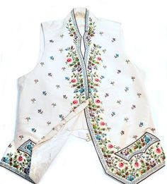 Georgian-style Silk Waistcoat | by Sherborne Museum National Archives, Georgian, Archaeology, Britain, Floral Tops, Museum, Age, Embroidery, Silk