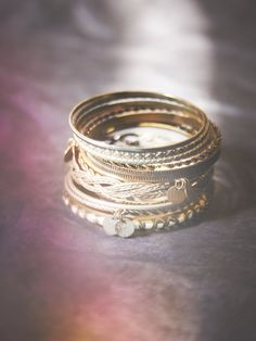 Free People Coin Drop Bangle Set at Free People Clothing Boutique